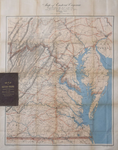 A.D. Bache (1806-1867), Map of Eastern Virginia compiled from the best authorities and printed at the Coast Survey...