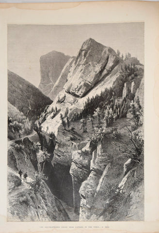 K. Heyn, The Peutelsteiner Chasm, near Ampezzo, in the Tyro [Italy]