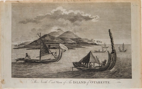 Alexander Hogg, The North East View of the Island of Otaheite [Tahiti]