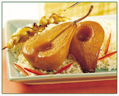 Braised Pears with a Soy-Ginger Glaze