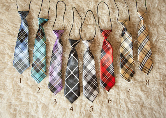 BABY/TODDLER PLAID NECKTIES
