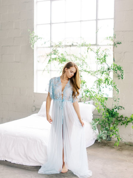 BABY BLUE BRIDAL /  BOUDOIR ROBE