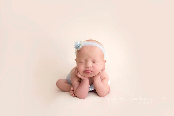 NEWBORN BABY ROMPER - baby photo prop - light blue - knit - nb twin baby photo shoot - baby gift - for newborn baby photography - handmade