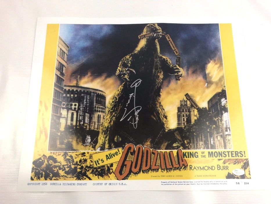 Haruo Nakajima Authentic Autograph Godzilla 16x20 Photo Signed Gojira JSA COA 2