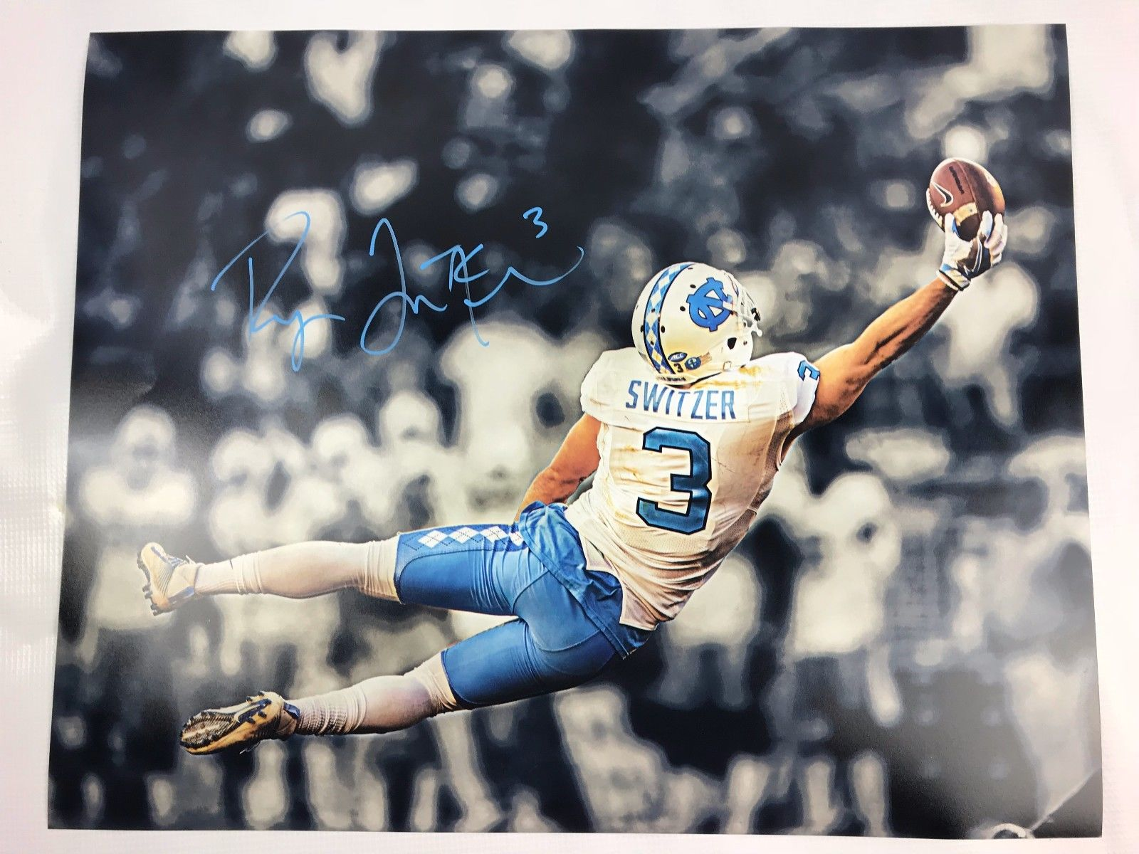 Ryan Switzer Signed 16x20 Custom Photo Dallas Cowboys COA Tar Heels Autograph 2
