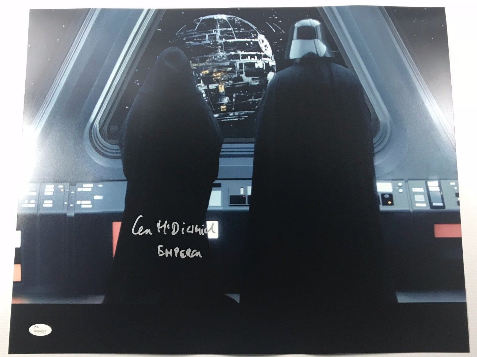 Ian Mcdiarmid Authentic Autograph Star Wars 16x20 Photo Signed Emperor JSA H3