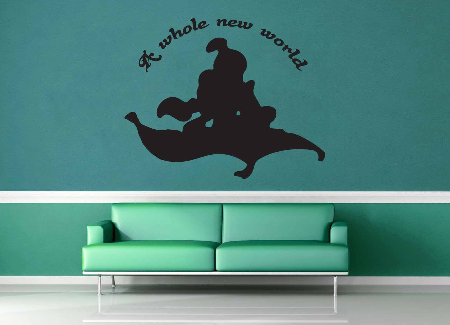 A Whole New World - Aladdin Quote - Wall Decal