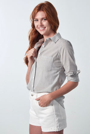 BRYNN SHIRT - COASTAL STRIPE