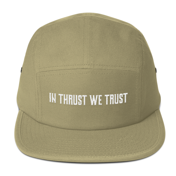 This In Thrust We Trust Tan Camper Hat is one of my  favorite hats to wear at the airport.