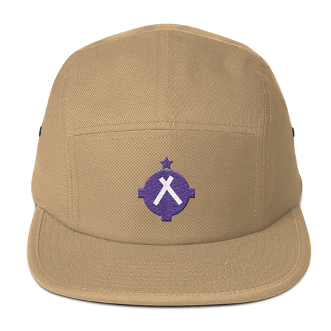 If you love to fly you'll love this tan camper style hat with the magenta VFR symbol on the front.
