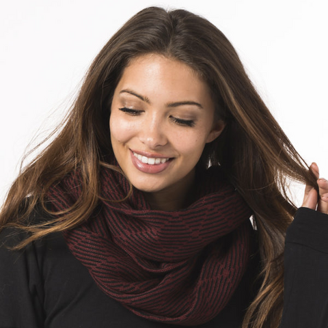 The Harper knit scarf by Krochet Kids