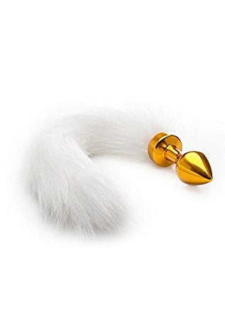 OUCH WHITE TAIL BUTTPLUG GOLD