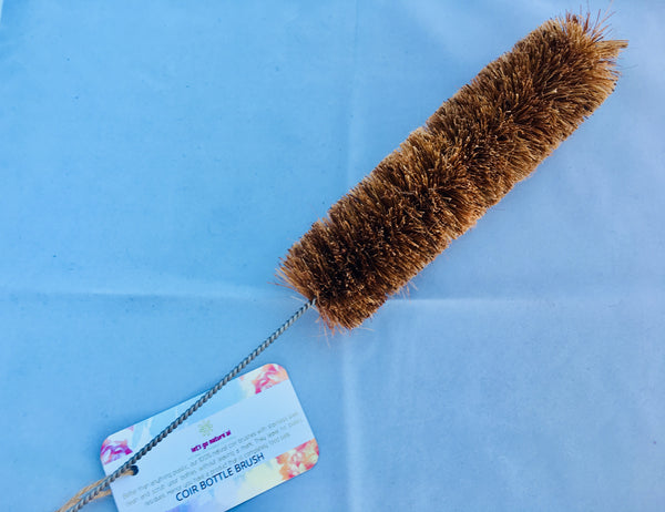 Eco-friendly cleaning brush made from Natural Coconut Coir fibre. Bottle Cleaning brush.