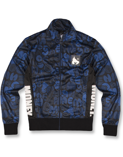 NAVY BUBBLE TRICOT TRACK TOP