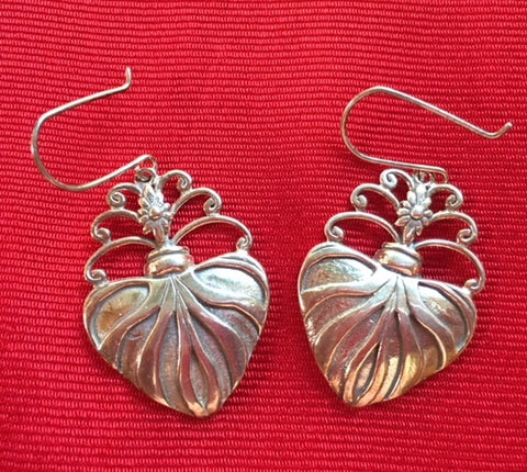 "Silver Earrings- ""Corazon Sagrado"" OUT OF STOCK"