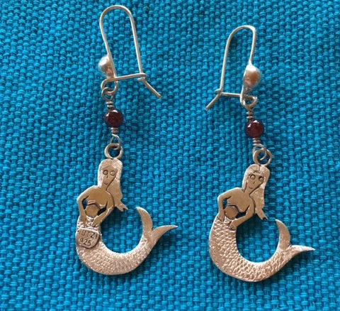 "Silver Earrings - ""Sirena"""