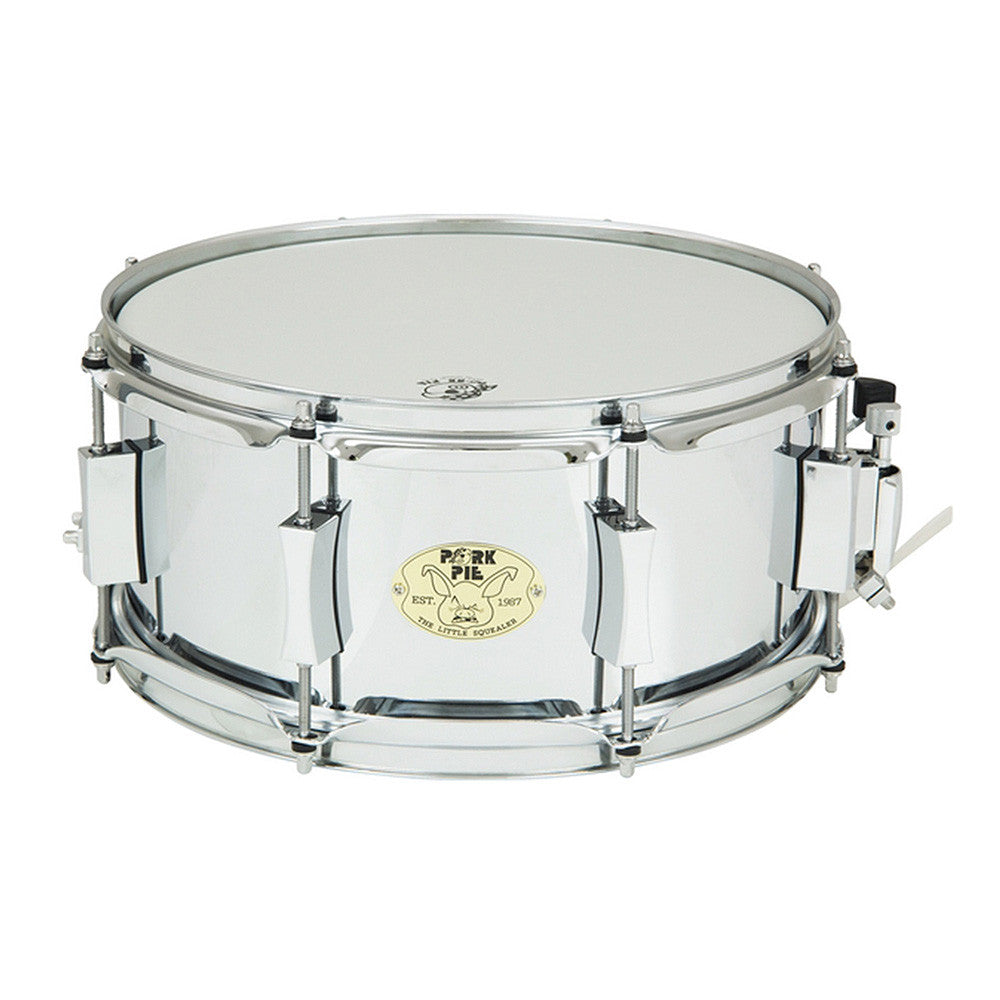 "Pork Pie 6x14"" Little Squealer Steel Shell In Chrome - Chrome Hardware"