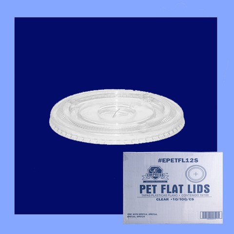 EPETFL12S - FLAT STRAW SLOTTED LID