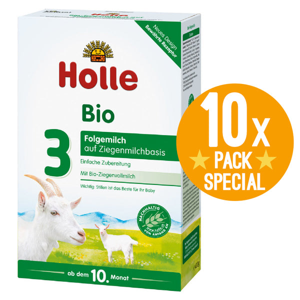 Holle Goat Stage 3 Organic Milk Baby Infant Formula 400g - 10 Months+ (10 Pack)