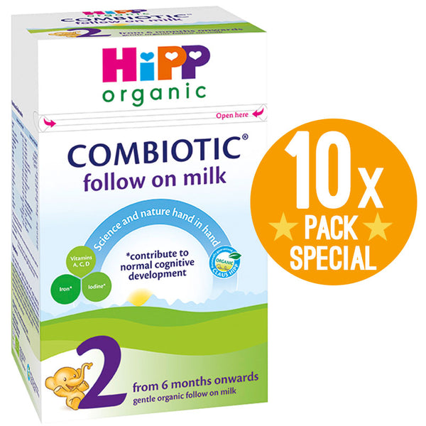 HiPP UK Stage 2 Organic Combiotic Follow-on Infant Milk Formula 800g - 6 Months+ (10 Pack)