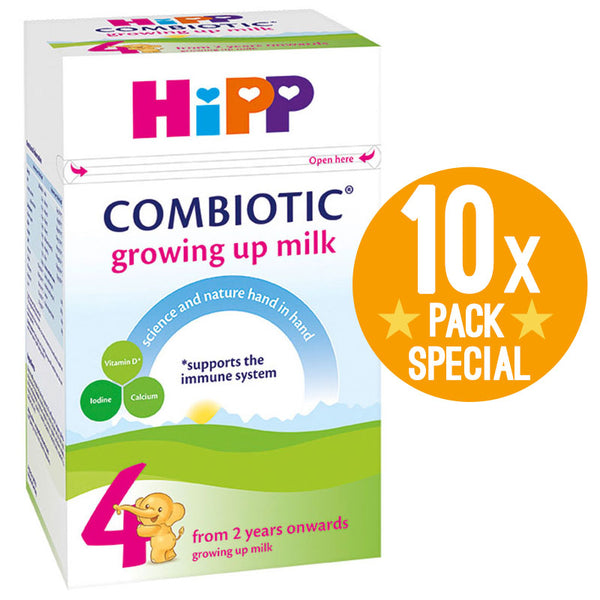 HiPP UK Stage 4 Combiotic Growing Up Milk Formula 600g - 2 Years+ (10 Pack)