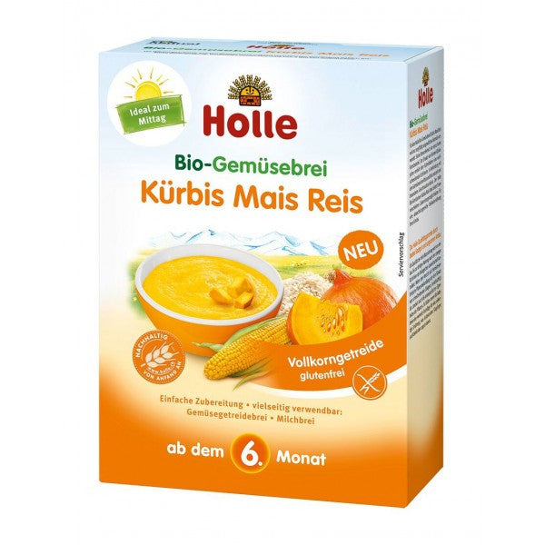 Holle Pumpkin Corn Rice Vegetable Porridge