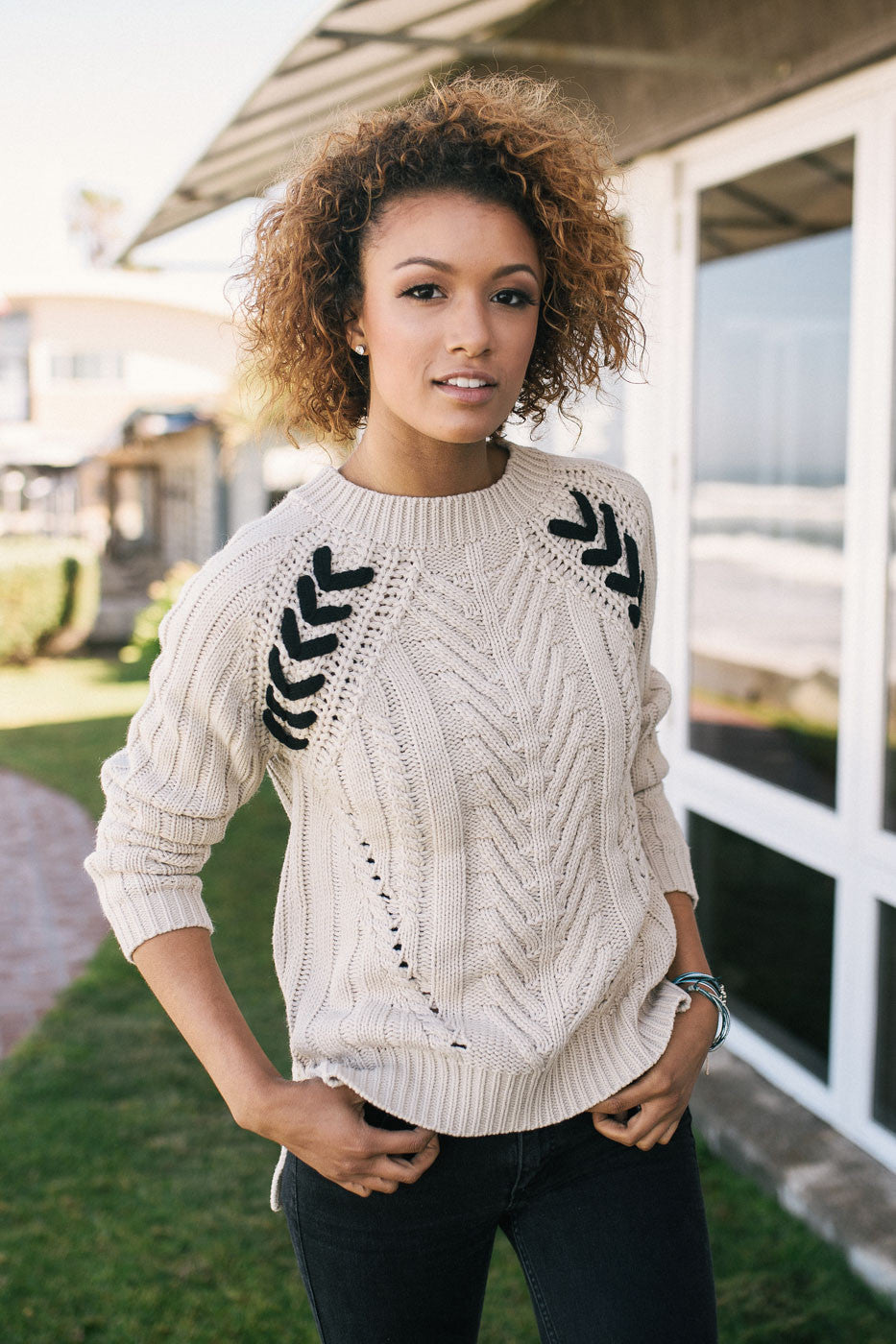 Mixed Cable Pullover