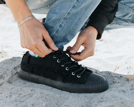 Black Canvas Low Top Sneaker