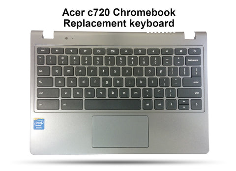Acer Chromebook C720 Replacement Keyboard, Palmrest, Touchpad Assembly - Screen Surgeons