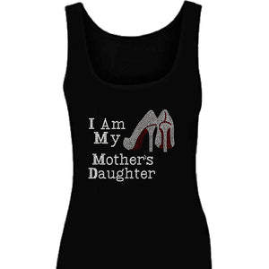 I Am My Mothers Daughters Rhinestone Tank Top