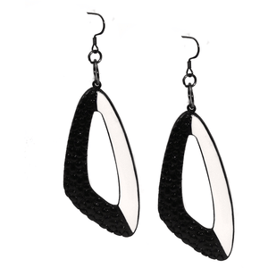 Black And White Triangle Dangling Earrings
