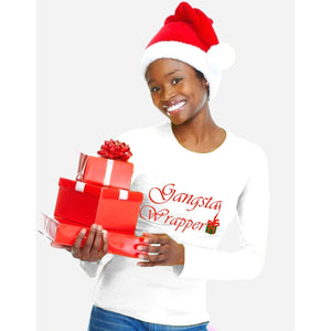 Gangsta Wrapper Glitter Christmas Holiday T-shirt