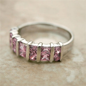 Pink Sterling Silver Cbic Zirconia Ring 7 / Rings