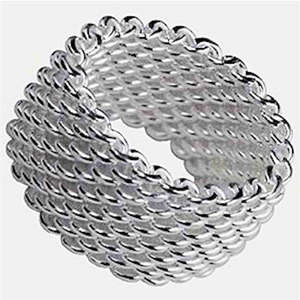 Sterling Silver Mesh Ring 6 / Rings