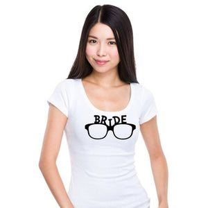 Bride Sunglasses T Shirt Xl / White Black T Shirt