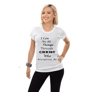 I Can Do All Things Through Christ Who Strengthens Me Xl / White Short T-Shrts