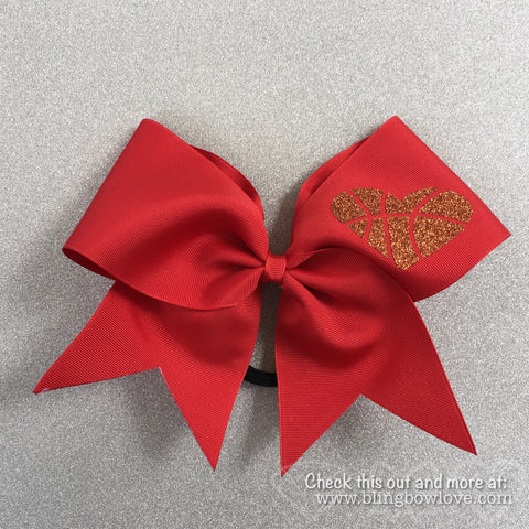 Hoop Love Bow - Red - Bling Bow Love - 1