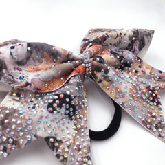 Kitty Sparkles Cheer Bow - Bling Bow Love - 2