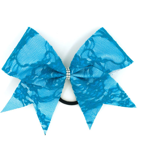 Blue Lace Bow - Bling Bow Love - 1