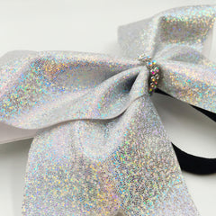 Mini Dot Holographic Cheer Bow - Bling Bow Love - 2