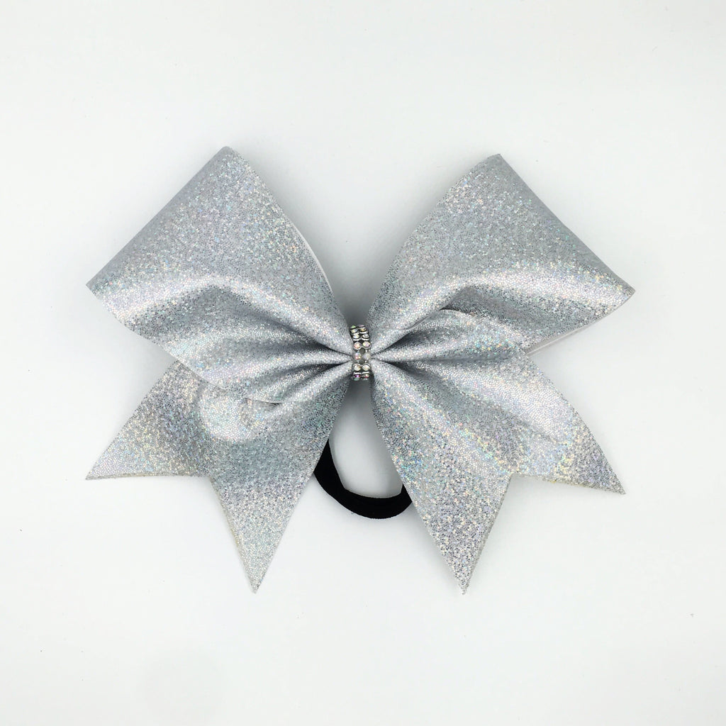 Mini Dot Holographic Cheer Bow - Bling Bow Love - 1
