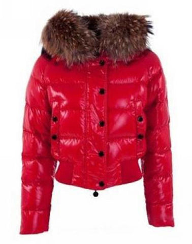 Пуховик Moncler красный укороченный | Moncler Red Down Jackets shortened