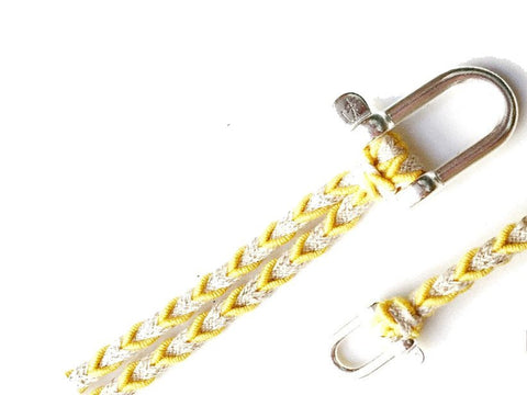Braided Bracelet Large Manille Silver 925 - Yellow