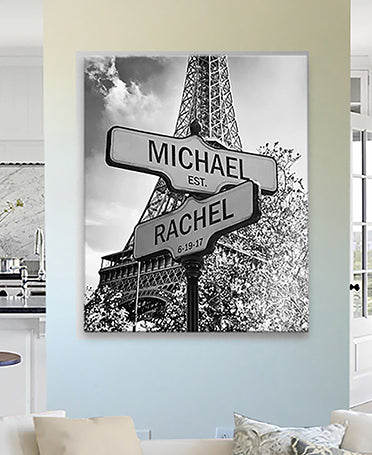 personalized street sign wall art wedding anniversary gift for couples