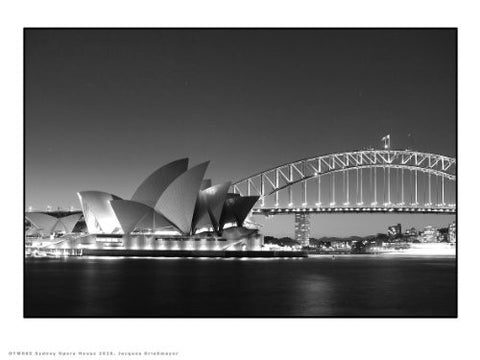 Sydney opera house and harbour Photographic Poster Art Print 30x40cm