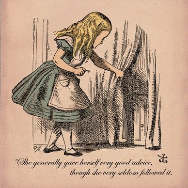 Alice in Wonderland Very good Advice Greetings Card 14x14cm - On the Wall Art Print Posters & Gifts