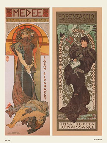 Art nouveau Poster Art Print by Alphonse Mucha Medee - On the Wall Art Print Posters & Gifts