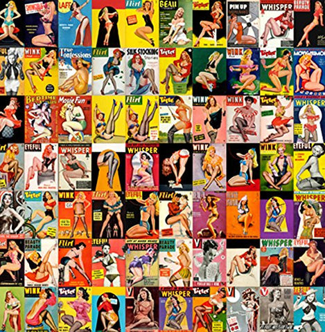 "Pin Up Posters 14x14cm Greetings Card ""Blank Inside"" - On the Wall Art Print Posters & Gifts"