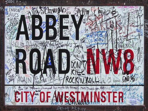 Abbey Road Graffiti sign Photographic Art print Poster. (PDP 011) - On the Wall Art Print Posters & Gifts
