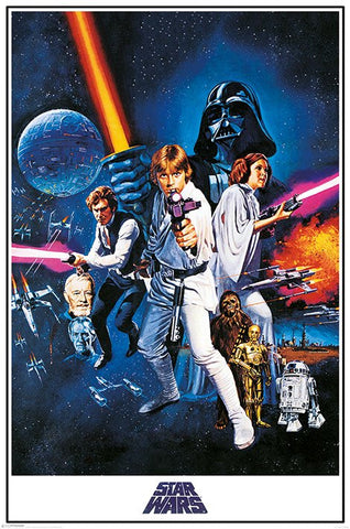Star Wars A New Hope (One Sheet) Poster (61x91.5cm) - On the Wall Art Print Posters & Gifts